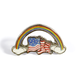 "BALL&CHAIN""RAINBOW FLAG LAPEL PIN"""