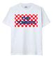 チェックロゴTシャツ<白>