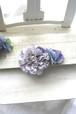 ダリアとアンティーク紫陽花のコーム ラベンダー