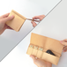 ヌメ革(生成り)のキー&スマートキーケース【zlat/ずらっと】#横入れ大きめタイプ #オールレザー #手縫い #オリジナルの1文字刻印可