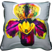 Jimmie Martin Cushions Purple/Yellow orchid