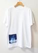 藍染め半袖  綿 白 Tシャツ (AT-43)メンズ ユニセックス M