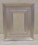 ミニ額シルバーB-403S額縁寸法70ミリ×50ミリ 窓枠寸法54ミリ×34ミリ 壁掛け用
