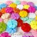 2穴プラスチックボタン お花 セット販売 40個