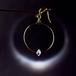 高品質ハーキマーダイヤモンド 満月の雫ピアス(14kgf)