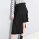 Pleat asymmetry 3 WAY skirt プリーツ レイヤード アシメントリー 3WAY スカート
