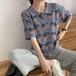 可愛い オシャレ 夏 POLOネック 半袖 タイト 合わせやすい ニット 韓国ファッション Tシャツ・トップス