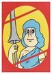 《JUN OSON イラストポストカード》CJ-5/ 女騎士1