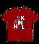 【SKANDHAL】BIG LOGO Tシャツ【レッド】【新作】イタリアンウェア【送料無料】《M&W》