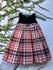 イギリス子供服 ドレス ワンピース ベルベット チェック