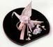 桜の織り鶴髪飾り <コームタイプ>