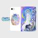 iPhone7 星月夜のおさんぽ 手帳型スマホケース