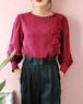 LANVIN 80s pink bots fril blouse