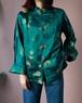 Turquoise green china jacket