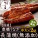 国産 豊橋うなぎ蒲焼き 長蒲焼き(無添加)115-130g×2尾 たれ・山椒付
