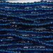 Charlotte/True-Cut、サイズ11/0、Montana Blue