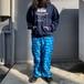 【USED】イージーパンツ 迷彩 総柄 パジャマ リラックス パンツ 古着
