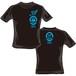 ハヤブサ×串猿 コラボレーションTシャツ (黒body×青print)