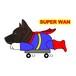 Superwanステッカー 【甲斐犬】 犬 ステッカー シール
