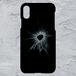 【iPhoneXS MAX対応】ガラスひび割れvol.3ハードケース#割れてる!デザイン