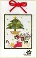 【クリスマスシリーズ】押し花ミニ壁掛け(ツリー)