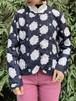 (TOYO) flower pattern no collar lace jacket