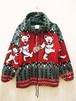 Grateful Dead Dancing Bear Zip Up Hooded Blanket Jacket (グレイトフルデッド ダンシングベアー ジップアップ フーデッド ブランケットジャケット/ジップパーカ)