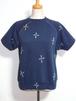 1980's エンブロイダリーS/Sスウェット 紺 表記(M) 総刺繍