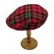 チェックベレー帽(RED×GREEN)B