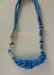◆ 北欧風 紐あみネックレス(ブルー)N171 ◆