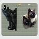 畳猫帯なし手帳型スマホケース For iPhone X/XS