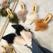 fur top highheel sandals 2970