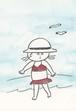 post card「海水浴」