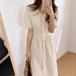 【dress】おしゃれ!ファッション着瘦せVネックデートワンピース着心地よい2色