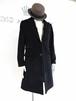 Black Cashmere Wool Single Chesterfield Coat 黒 カシミア ウール シングル チェスター コート KQBXA0124