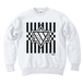 ERICH / HEXAGRAM STRIPE CREWNECK SWEAT WHITE