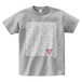 ERICH / TRIANGLE PATTERN T-SHIRT GRAY