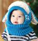 青色 モコモコ ふわふわ かわいい うさぎ ひつじ ベビー ニット帽