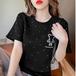 【tops】好感度抜群!質感のいい シンプルくまちゃん 人気デザイン4色Tシャツ