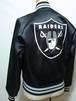 1990's NFL RAIDERS サテンスタジャン ブラック 表記(BOYS 14/16) ロサンゼルスレイダーズ