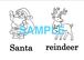 Christmas 絵+英単語 フラッシュカードデータ(白黒)
