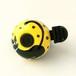 かわいい☆おしゃれな自転車ベル NDY01 黒猫の黄色(S)