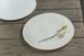 白い陶板のお皿(大/無)