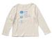 纏うもの05:CookieT ボートネック長袖Tシャツ 生成り レディース