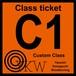 YKW C1 Class ticket