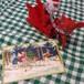 ドイツ クリスマスポストカード ソリをひく子ども達