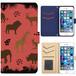 Jenny Desse iphone 6/6S plus ケース 手帳型 カバー スタンド機能 カードホルダー レッド(ブルーバック)