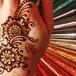 ラメタトゥー 消えるタトゥー ヘナタトゥーの乾かす時間を楽しむグリッター ボディペイント ラメコーン
