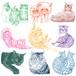 猫の手描きイラスト・似顔絵カラー線変更オプション