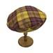 チェックベレー帽(YELLOW)